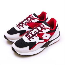 【LOTTO】男 經典厚底復古多功能運動鞋 SIRIUS 老爹鞋系列(白黑紅 1212)