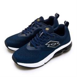 【LOTTO】男 專業編織避震氣墊慢跑鞋 NOVA+ 新星系列(藍黑 0696)