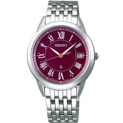 SEIKO 精工 LUKIA 純淨之心真鑽太陽能腕錶 V147-0CR0R (SUT393J1)33.9mm