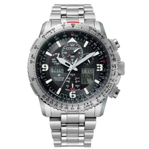 CITIZEN星辰JY8100-80E光動能電波碼錶計時飛行腕錶/