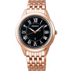 SEIKO 精工 LUKIA 純淨之心真鑽太陽能腕錶(V147-0CR0B)SUT398J1/33.9mm