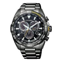 CITIZEN星辰 CB5037-84E 光動能電波碼錶計時腕錶