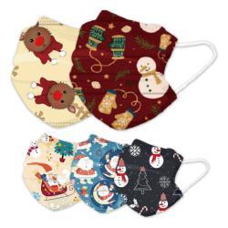 (現貨)100片卡通雪人麋鹿綜合款成人兒童口罩50片(五款圖款綜合)(50片X2包)