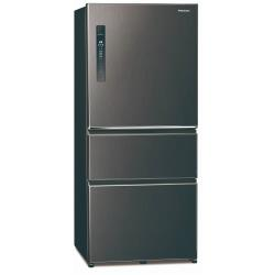 Panasonic國際牌610L一級能效三門變頻冰箱(絲紋黑)NR-C611XV-V -庫-Y