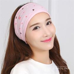 《Caroline》韓版春夏印花多功能純棉質地細膩舒適柔軟月子帽套頭帽72135