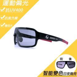 P1092偏光變色運動太陽眼鏡(運動偏光變色 智能變色太陽眼鏡)
