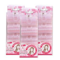 Miro.lu 韓式空氣瀏海夾4入/盒 3.5cm髮捲 超值3入組 (共12入髮捲) 附專用固定夾