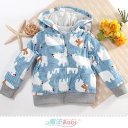 魔法Baby 1~3歲嬰幼兒外套 秋冬厚絨毛極暖連帽外套~k61283