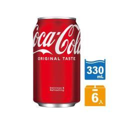 可口可樂 易開罐330ml(6入)