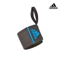 Adidas - 彈力纏繞式訓練護腕(藍)