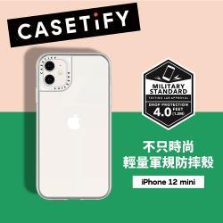 Casetify iPhone 12 mini 輕量耐衝擊保護殼-透明