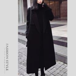 【GF 快時尚】簡約經典翻領保暖毛呢大衣 (S~XL)