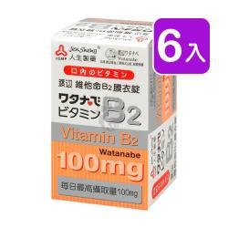人生製藥渡邊 維他命B2膜衣錠 60粒裝 (6入)