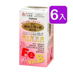 人生製藥渡邊 綜合B群+鐵糖衣錠 90粒裝 (6入)