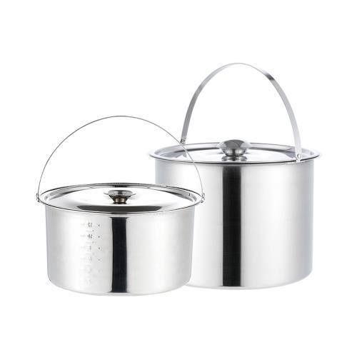鵝頭牌304不鏽鋼料理提鍋雙鍋組-CI-4.3T+CI-4.7T/