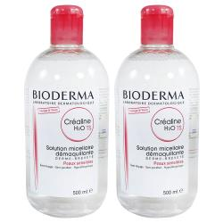 BIODERMA貝膚黛瑪 舒敏高效潔膚液500ML 兩入組( TS加強保濕款 卸妝水 保濕加倍 H2O)