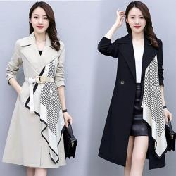 【K.W.韓國】(預購)追加單品韓流長版風衣外套