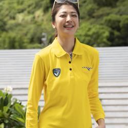 【LEIDOOE】格紋口袋休閒女版長袖POLO衫(55206黃色)