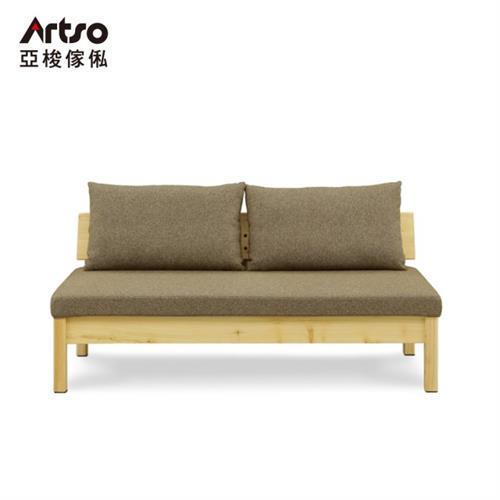 【Artso 亞梭】YUU 優-二人座沙發椅130cm(/實木/檜木/雙人沙發)