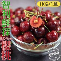 愛上水果 智利鮮採櫻桃*1盒(1kg/28-30mm/9.5ROW)