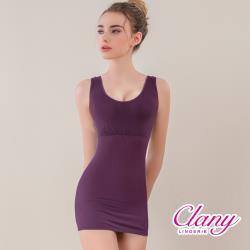 【可蘭霓Clany】寬肩輕機塑身M-EQ(3XL)美體衣  華麗紫  1928-93