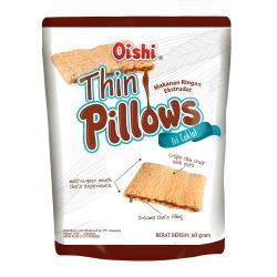 【印尼】oishi巧克力風味薄枕頭造型餅乾X24包
