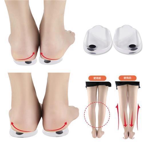 [改善腿型](JHS杰恆社)預購los0341男女款O型腿X型腿內外八字後跟墊內外翻磁石矯正後跟墊/