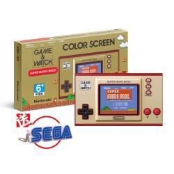 【Nintendo 任天堂】Game & Watch: 超級瑪利歐兄弟 攜帶型遊戲機(送SEGA原廠有聲鑰匙圈)