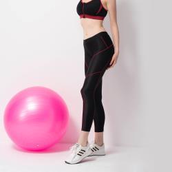 【non-no 儂儂】運動壓縮塑身褲 線條款(時尚配色 分段加壓)