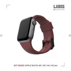 [U] Apple Watch 42/44mm 舒適矽膠錶帶-紫紅