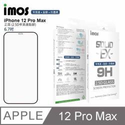 iMos Apple iPhone 12 Pro Max 點膠2.5D 窄黑邊防塵網 玻璃螢幕保護貼