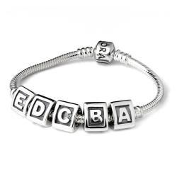 Pandora 潘朵拉刻字字母純銀墜
