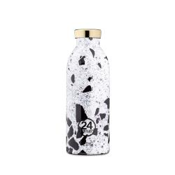 義大利 24Bottles 不鏽鋼雙層保溫瓶 500ml - 水磨石