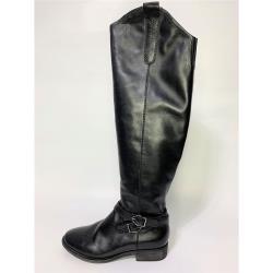 【WYPEX】下殺3折/ 牛皮扣環設計感過膝長靴-黑