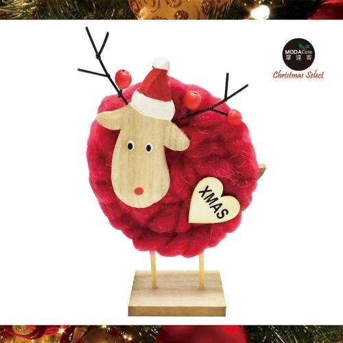 摩達客耶誕-超萌紅色羊咩咩羊毛氈公仔聖誕擺飾