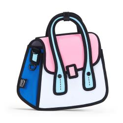JumpFromPaper 2D卡通包 霓虹粉貓頭鷹包 肩背包 鏈包 手提包