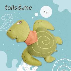 tails&me 尾巴與我|寵物玩具 啃咬抱抱組 海龜阿里