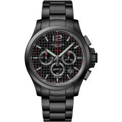 LONGINES 浪琴 征服者系列V.H.P.萬年曆碳纖維計時手錶-黑/44mm L37272666