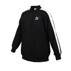 PUMA 女立領棒球外套-歐規 平織 運動 慢跑