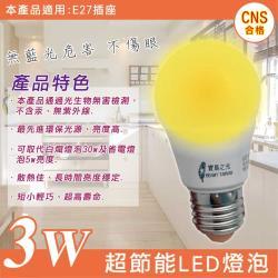 寶島之光 3W 超節能燈泡E27燈座(黃光)1入  GLD-G03LFE