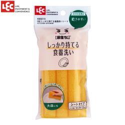 日本LEC 易凹折食器清潔海綿 1入