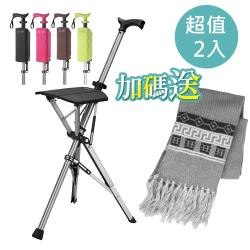 (超值2入) Ta-Da 泰達椅 自動手杖椅.休閒椅.最新款 耐重100kg