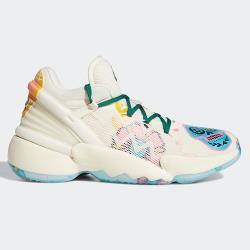 ADIDAS D.O.N. ISSUE 2 男鞋 籃球 米契爾 避震 透氣 骷髏標誌 米白【運動世界】FY9996