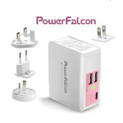 PowerFalcon[紅隼] PD+QC3+USBA  3口旅充iphone快充充電器