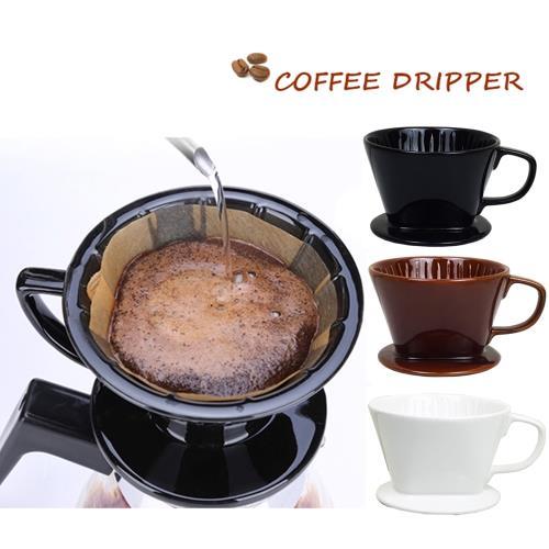 日式陶瓷~小號咖啡濾杯1-2人份x1/泡咖啡/泡茶濾杯/手沖咖啡濾器(隨機出貨)