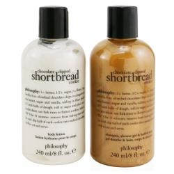 肌膚哲理 巧克力曲奇餅乾2件裝套裝:洗髮水,沐浴露和泡泡浴240ml +潤膚露240ml 2x240ml/8oz