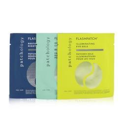 Patchology FlashPatch眼部啫喱-眼部護理三合一套裝:使肌膚煥發活力,恢復活力,恢復活力 6pairs