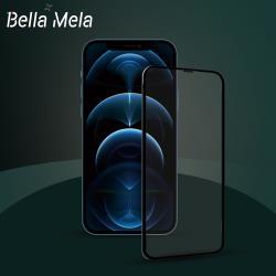 Bella Mela iPhone 12/12 Pro 9H鋼化玻璃滿版保護貼/膜(細黑邊框)
