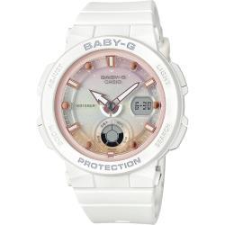 CASIO 卡西歐 Baby-G 海洋渡假 霓虹手錶-白 BGA-250-7A2
