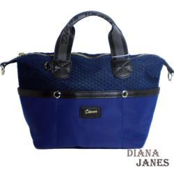 包【Diana Janes 黛安娜】韓版樂活輕盈尼龍配皮側背手提包